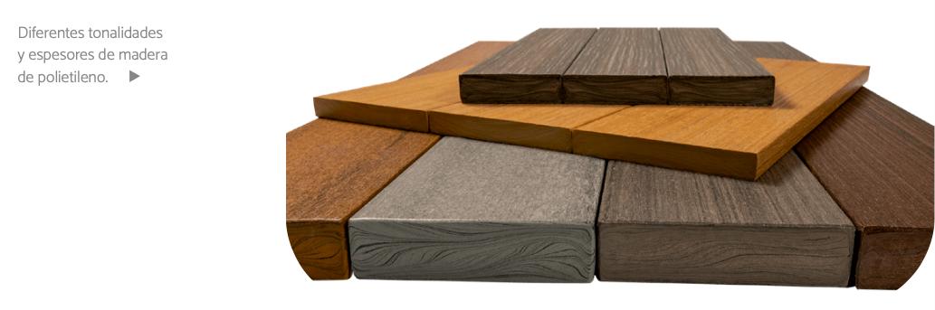 madera de polietileno